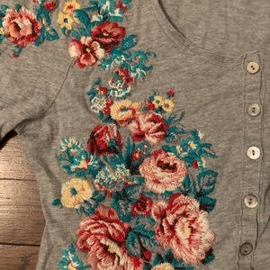 Sundance floral long-sleeved shirt size S